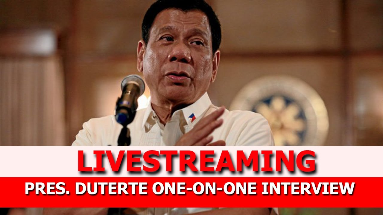 LIVESTREAMING:PRESIDENT DUTERTE ONE-ON-ONE INTERVIEW