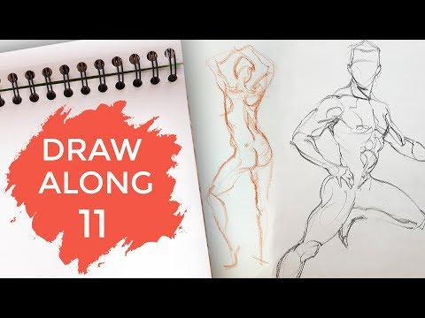 Draw Along Club 11 - PRACTISE LIFE DRAWING with us