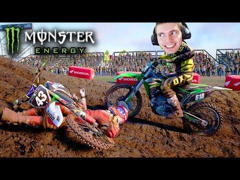O ACIDENTE de MOTOCROSS!!! - Monster Energy SuperCross
