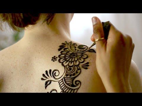 Making of a Henna Tattoo ASMR