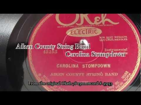 The 1927 original 78 rpm by The Aiken County String Band - Carolina Stompdown on Okeh # 45153