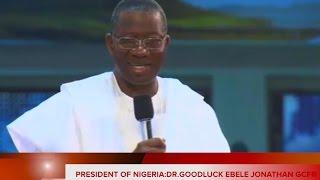 Nigeria President Dr. Goodluck Jonathan @ Faith Tabernacle Nigeria Jan.25 2015