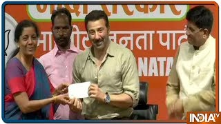 Actor Sunny Deol joins BJP in presence of Union Ministers Piyush Goyal and Nirmala Sitharaman