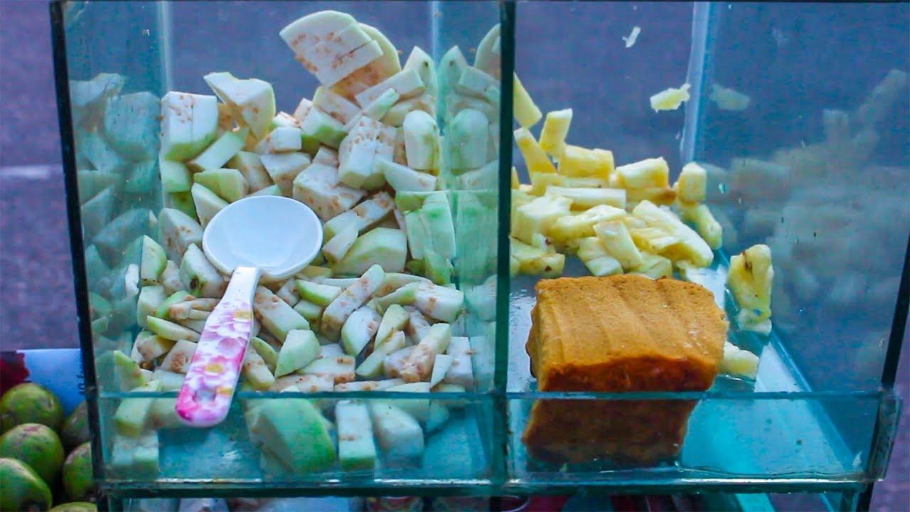 Ana Ros Videos anaros & peyara vorta   pineapple & guava mix   masala street food