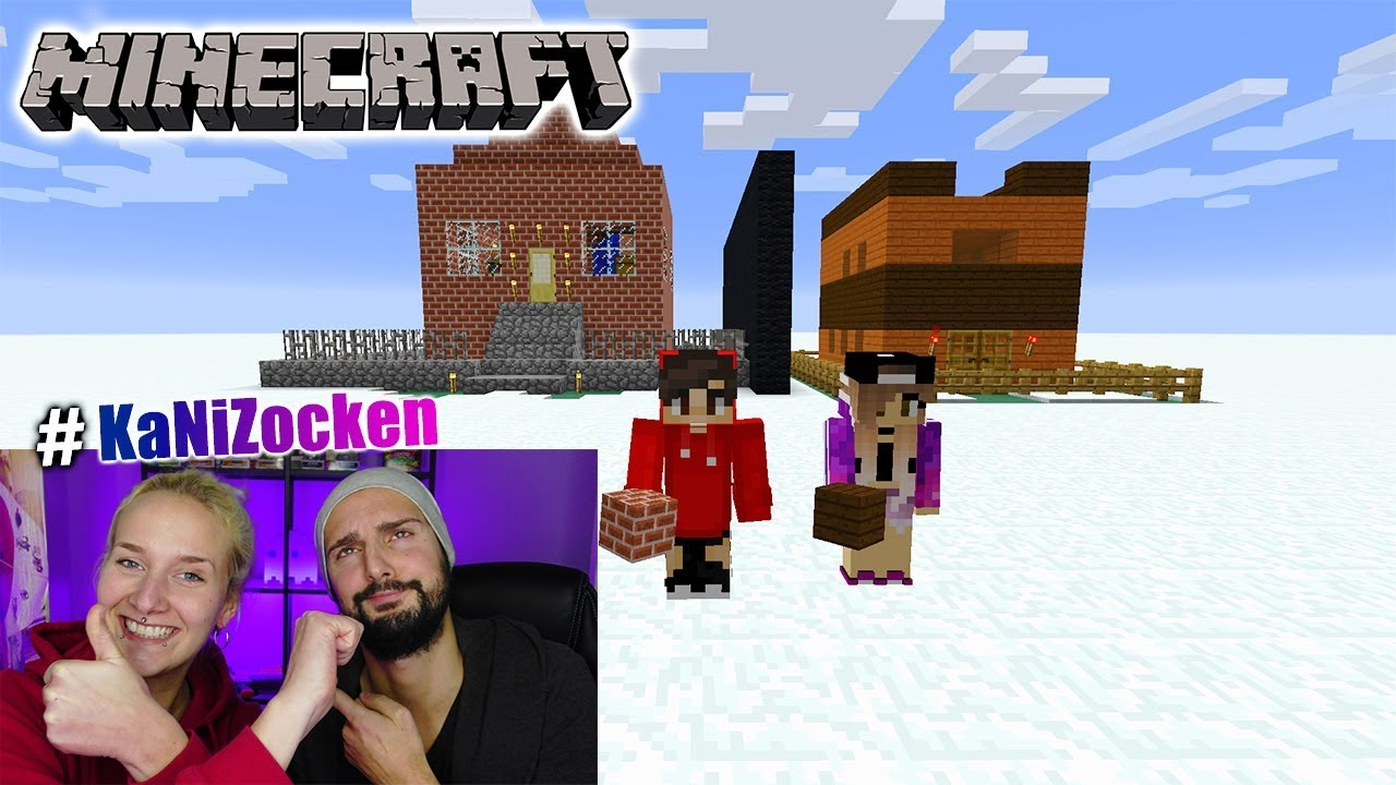 NINAS HOLZ HAUS Vs KAANS STEIN HAUS MAKE HOLZ GREAT AGAIN - Minecraft hauser aus holz und stein