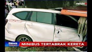Mesin Mati di Tengah Perlintasan, Mobil Ditabrak Kereta di Cilegon - iNews Malam 17/09