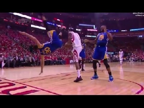 Stephen Curry Fall Head Injury vs Rockets Game 4 May 25 2015 NBA Playoffs