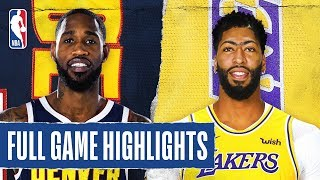 Nuggets At Lakers | Full Game Highlights | December 22, 2019