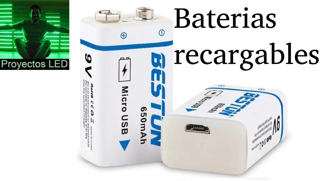 Baterias 9V de litio, recargables por micro usb. No me convencen del todo.