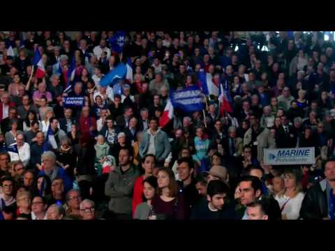 Discours de Marine Le Pen au meeting à Bordeaux le 02 avril 2017