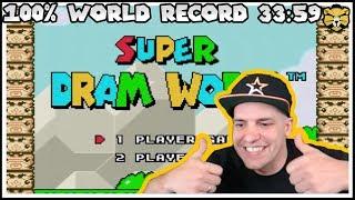 Super Dram World Speedrun 100% World Record 33:59