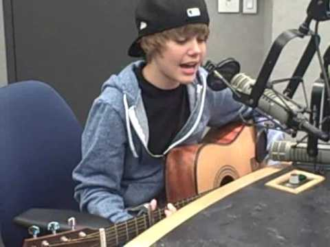 """Justin Bieber """"One Time"""" acoustic"""