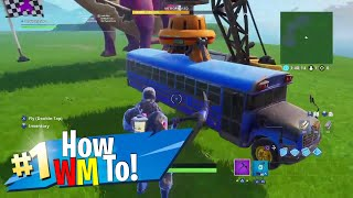How To Get the Fortnite Battle bus in Creative mode (Easy)