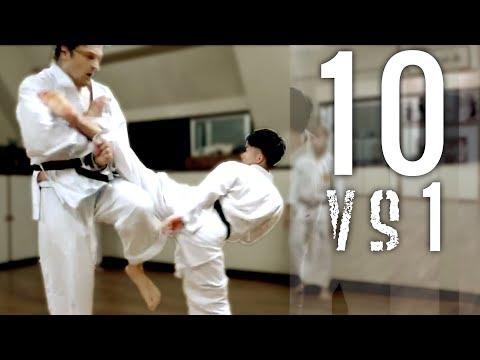 10 Man Kumite | Goju-ryu Full Contact Karate | Okinawa Yagi Dojo