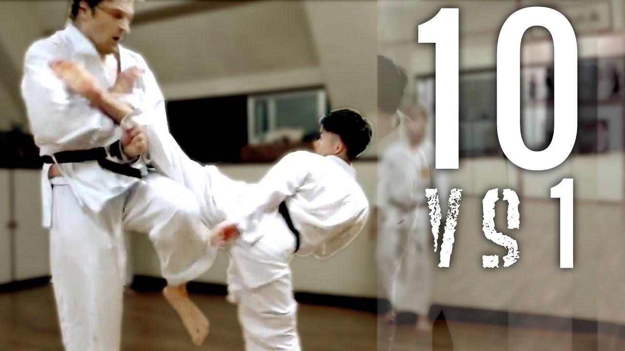 10 Man Kumite   Goju-ryu Full Contact Karate   Okinawa Yagi Dojo