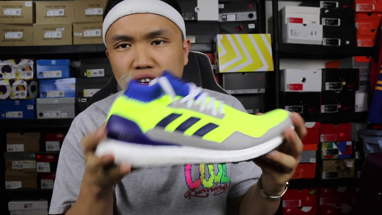 6315a1f546ada7 Consortium Ultra Boost Mid Prototype  Solar Yellow (Unboxing Review) + On  Foot