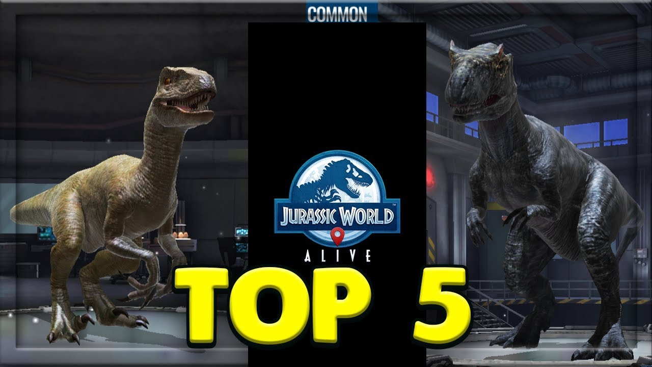 TOP 5 COMMON DINOSAURS IN JURASSIC WORLD ALIVE