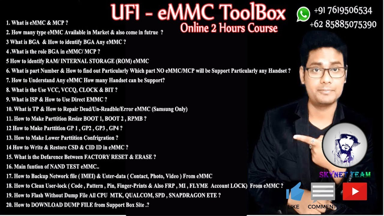 Emmc Repair Online Full UFI Course  A to Z Information For Worldwide