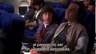 TBBT - The Big Bang Theory. 7x17 - Sheldon and Howard flying together on the airplane