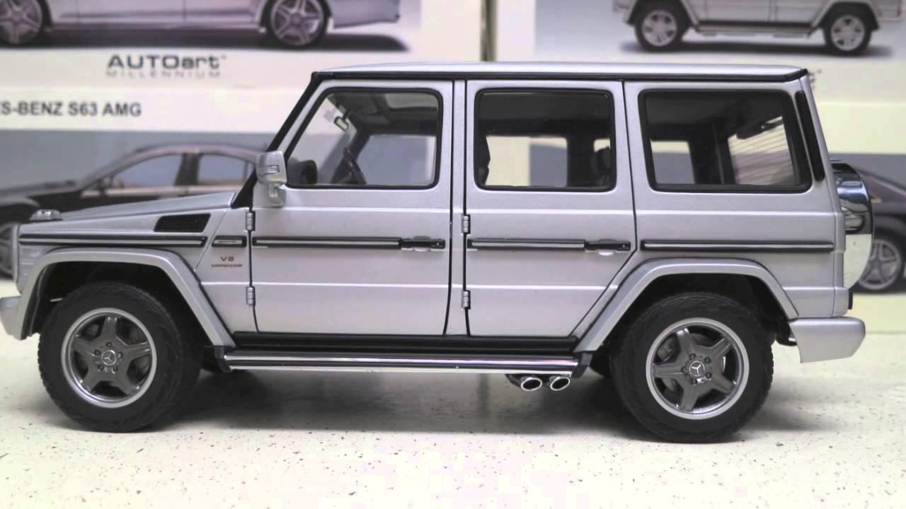 1 18 Autoart Mercedes Benz G55 Amg Silver Diecast Model