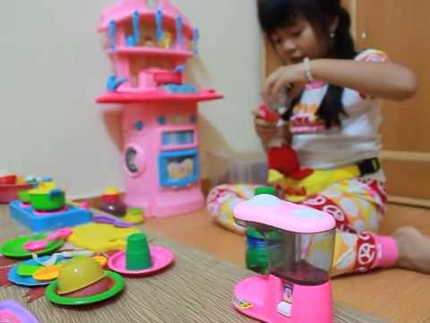 Đồ chơi nhà bếp cho trẻ em nhận biết đồ ăn