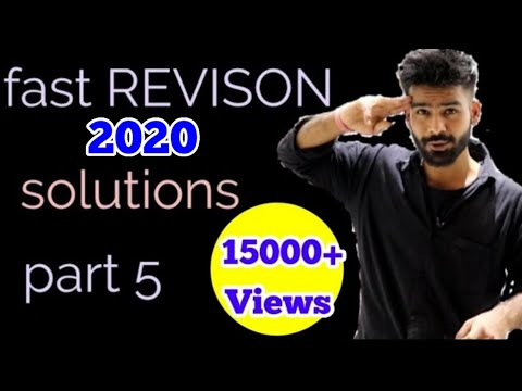 #5 SOLUTIONS  chemistry REVISON video || class 12 cbse 2019
