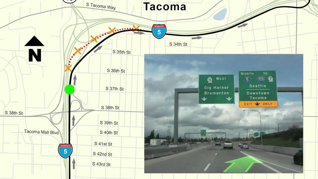 Extended Ramp Closure from Northbound I-5 to Tacoma City Center