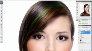 Урок по фотошопу. Мелирование волос. Цвет волос