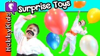 HobbyKarate Pops MEGA Balloon Surprises by HobbyKidsTV