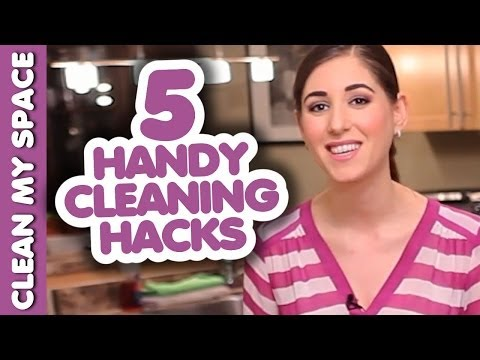 5 Quick & Handy Cleaning Hacks! Easy Ideas How To Clean That Save Time & Money (Clean My Space)