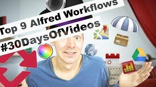 Top 9 Best Alfred Workflows to Speedup Your Day #30DaysOfVideos