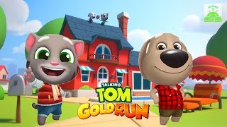 TALKING TOM GOLD RUN - Frosty Tom vs Talking Ben (Gameplay) 2018