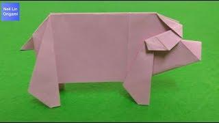 豬事大吉🐖 / 摺紙小豬教學 - 讓我們用紙製作一隻可愛的發財小豬 手工折紙動物