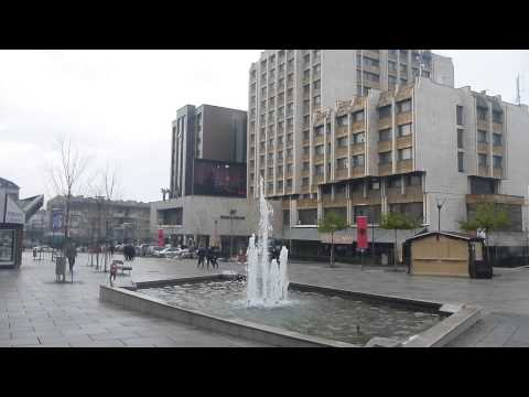 Morning in Pristina   Kosovo near the Grand Hotel   December 2014