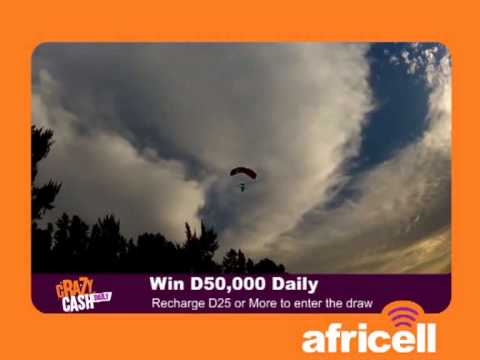 Daily Crazy Cash - Sky Diving - Africell Gambia