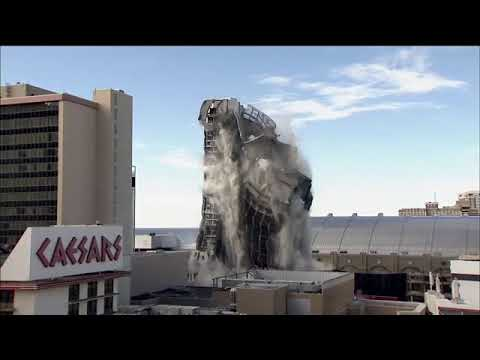 Video of Trump Plaza implosion: Former casino reduced to pile of ...