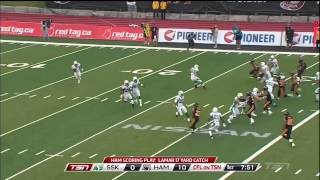 CFL Saskatchewan @ Hamilton July 27th, 2013 Condensed (1st Quarter)