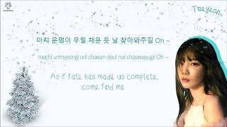 TAEYEON 태연 - This Christmas Color-Coded-Lyrics Han l Rom l Eng 가사 by xoxobuttons