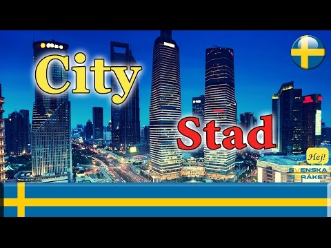 Learn Languages- learn swedish - City - Stad