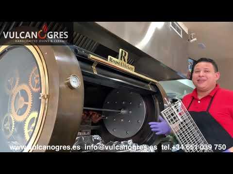 ASADOR POLLOS PLANETARIO VULCANO GRES ROAST CHICKEN BBQ