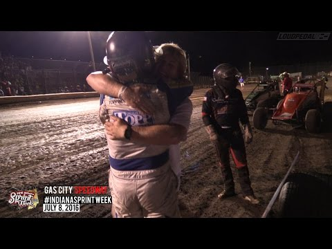 Highlights: AMSOIL USAC National Sprint Cars at Gas City Speedway 7/8/16