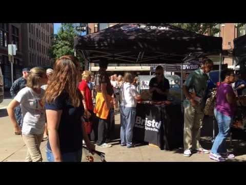 Battle at Bristol reps visit Market Square