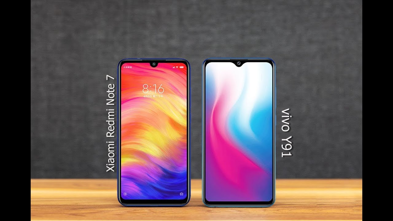 Xiaomi Redmi Note 7 Vs Vivo Y91 Comparison 2019 Youtube