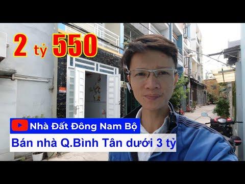Video nhà bán 1 lầu quận Bình Tân dưới 3 tỷ, hẻm 5m đường số 12