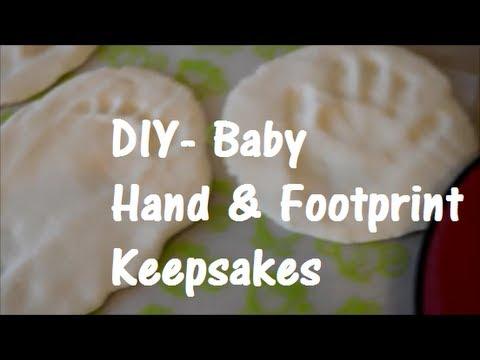 Diy baby print keepsakes 3 ingredients so easy youtube solutioingenieria Gallery