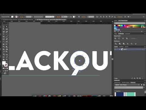 U2-Blackout Logo Design Video