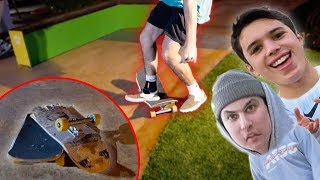 You Won't Believe Why He BROKE His Skateboard