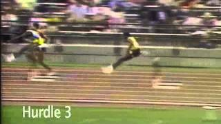 World Record Holder Kevin Young 11-steps while at '86 NCAA