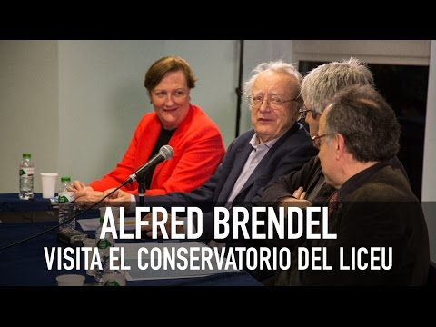 Alfred Brendel at the Liceu Conservatory