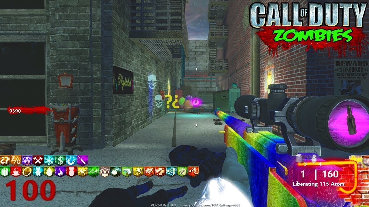 MAX PERKS IN EINER ZOMBIES-KARTE! (Die meisten verrückten Custom Zombies Map EVER!) + video